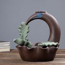 Crescent Ceramic Backflow Incense Burners Little Monk Censer Smoke Waterfall Holder Aromatherapy Environment