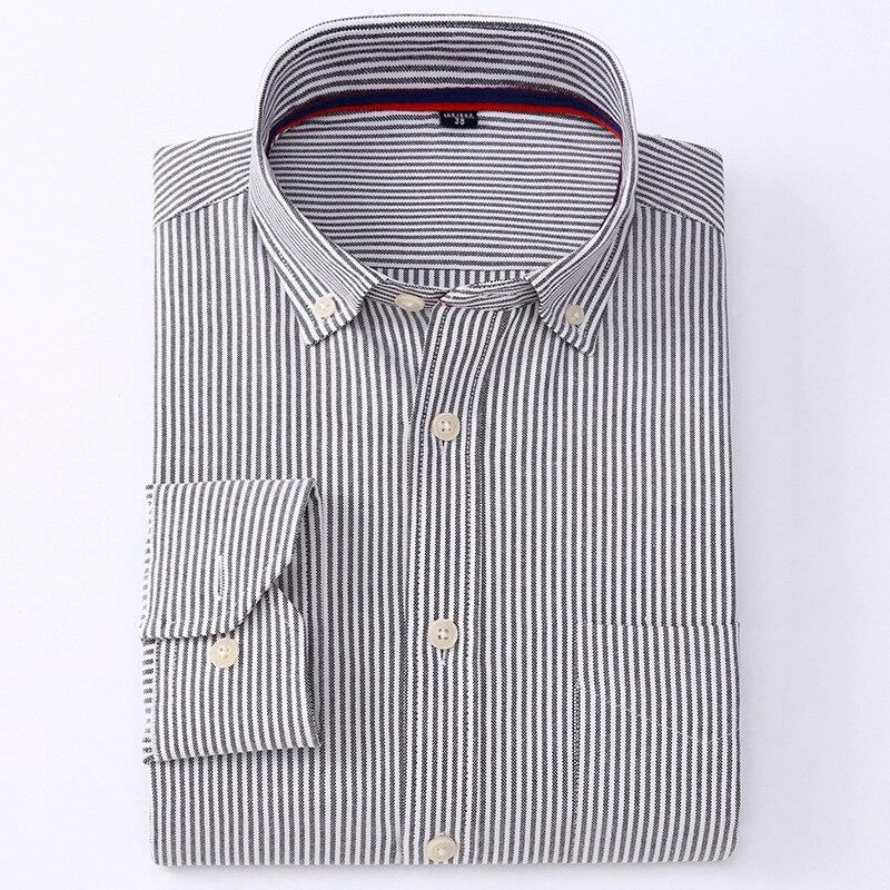 Рубашка с длинными рукавами Для мужчин Рубашки в клетку в полоску оксфордская рубашка мужская одежда рубашки Для мужчин s рубашки Повседнев...