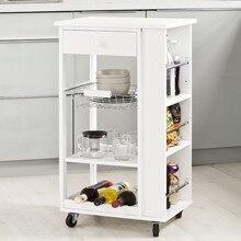 SoBuy FKW12-W, Kitchen Storage Trolley Serving Trolley