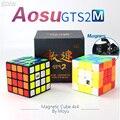 Moyu Aosu GTS2M GTS2 M 4x4x4 Magnetische Cube Speed Puzzel Cubo Magico 4x4 Aosu GTS V2 M Voor Professionele Stickerloze Zwart Kid Speelgoed