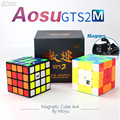 Moyu Aosu GTS2M GTS2 M 4x4x4 magnético Cubo velocidad rompecabezas Cubo mágico 4x4 Aosu GTS V2 M profesional Stickerless Negro Chico juguete