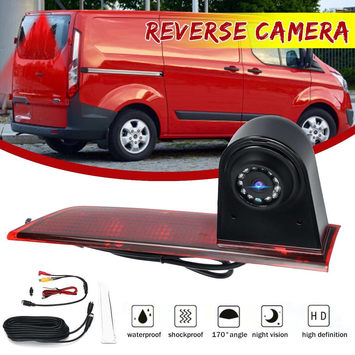 170 Degree Reversing Backup Rear View Brake Light Camera For Ford Transit Custom 2016 On
