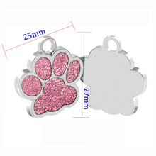 1PCS Personalized Pet Dog ID Tag Stainless Steel Engraving Dog Cat Name Tags Collar Accessories Pendant Customized With Keyring