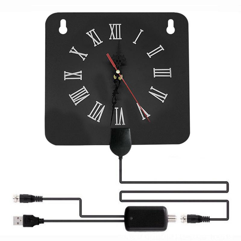Image 3 - 300 Miles Indoor Digital TV Antenna 1080p HD Signal Receiver Amplifier Alarm Clock Style with Signal Amplifier Booster-in TV Antenna from Consumer Electronics