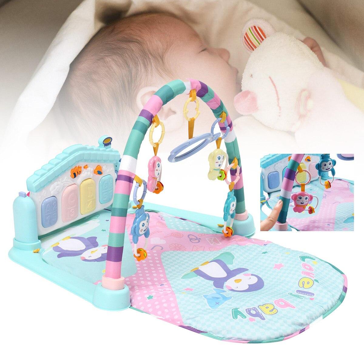 Nouveau-né tapis de jeu tapis éducatif Puzzle tapis avec clavier de Piano mignon Animal tapis de jeu bébé Gym coup de pied ramper activité tapis jouets