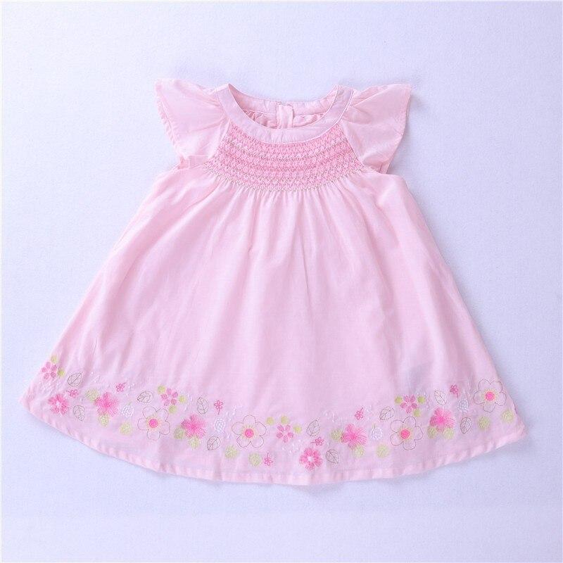 Pink Embroidered Smocked Dress Girls Smocked Dresses Smocked Toddler Dress Baby