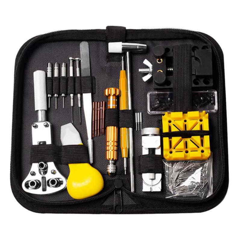 148pcs/set Professional For Watch Case Opener Link Pin Remover Screwdriver Repair Tools Kit Bag Size 200x100x45mm