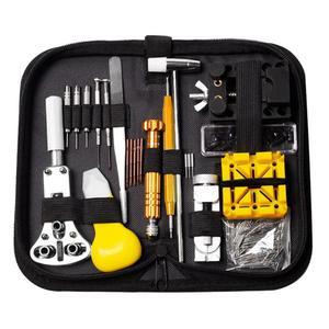 Image 1 - Kit de herramientas de reparación de relojes, eliminador de pasadores de enlace, unids/set, herramientas para relojes, reparación de reloj, Kit de herramientas, bolsa, gereedschap horloge, 148