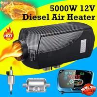 12 V 5KW Дизельный подогреватель воздуха комплект с Дистанционный пульт с lcd монитор для жилой автофургон трейлер грузовики, лодки