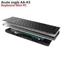 Острый угол AA K3 DIY бизнес клавиатура мини ПК Intel Apollo Lake Celeron N3450 8 GB 64 GB Windows 10 M.2 SSD 2,4 + 5 ГГц Wi Fi BT4.0
