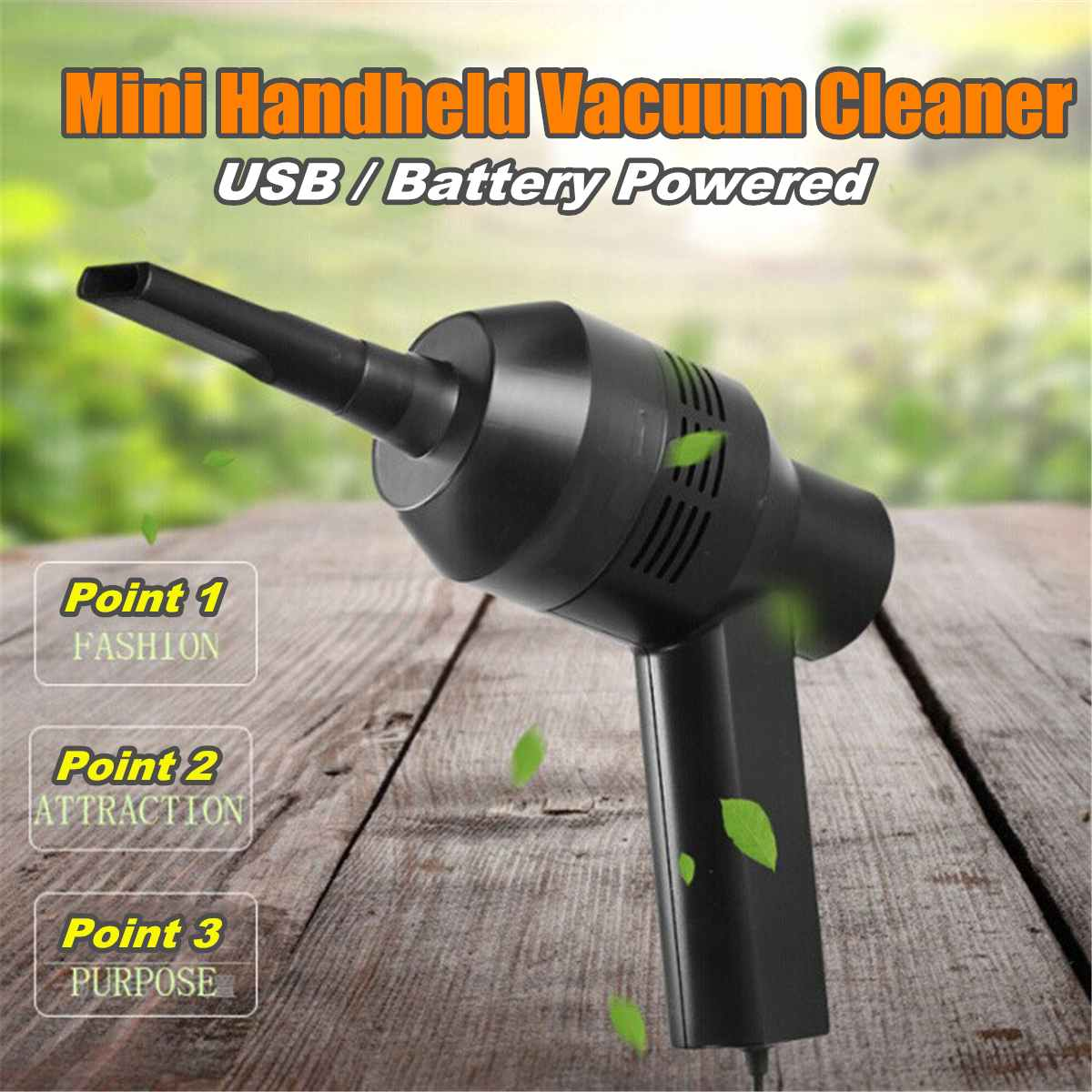 USB Battery Powered Mini Vacuum Cleaner Handheld Dust Cleaners For PC Keyboard Computer Accessories Portable Cleaning Tools(China)