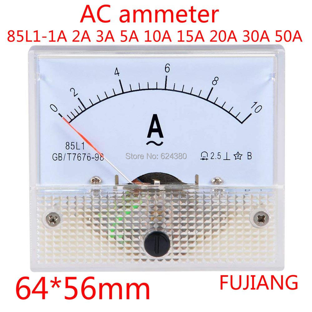 Указатель амперметр переменного тока 0-10 А 1 А 2 А 3 А 5 А 10 А 15 а 20 А 30 А 50 А аналоговый панельный Амперметр Датчик силы тока Амперметр 85L1