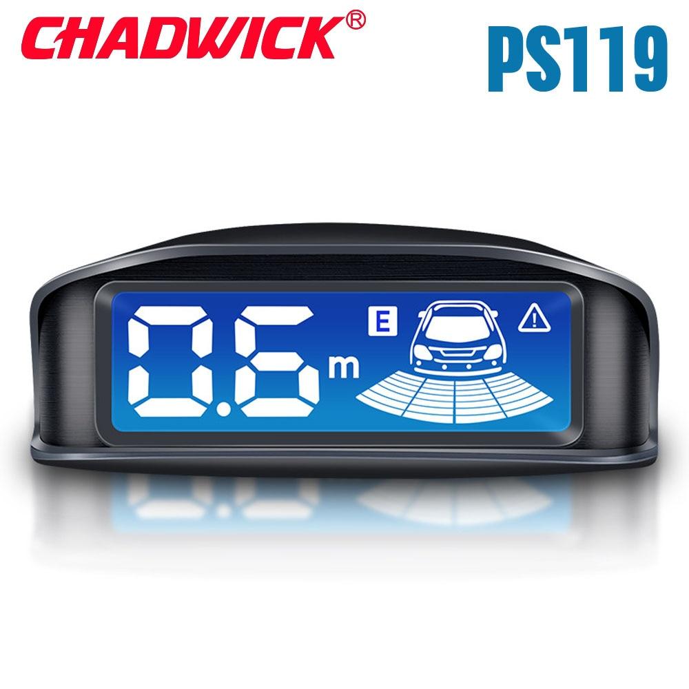 Écran LCD capteurs de stationnement de voiture 4 Radars son audio réel alarme de voiture double coeur système de stationnement Parkmaster inversion CHADWICK PS119