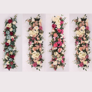 Image 5 - 1M Road cited artificial flowers row wedding decor flower wall arched door shop Flower Row Window T station Christmas Flores