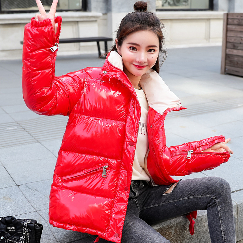 Casual   Down     Coats   Winter Short Parkas Female Solid Slim Jackets Glossy Thick Outerwear For Ladies 2018 Fashion   Down   Jacket   Coat