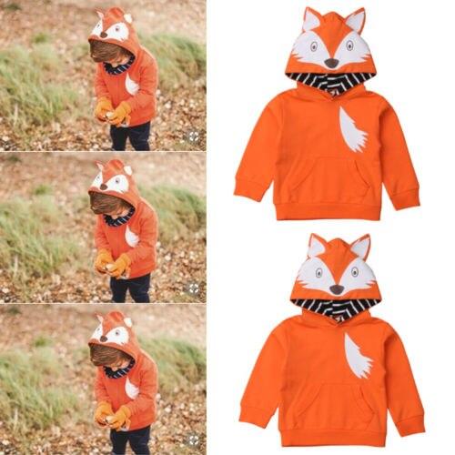 Neueste Neugeborenen Baby Junge Mädchen Winter Warme Baumwolle Top Mantel Outwear Fox Mit Kapuze Sweatershirt Kleidung Kostüm Uns