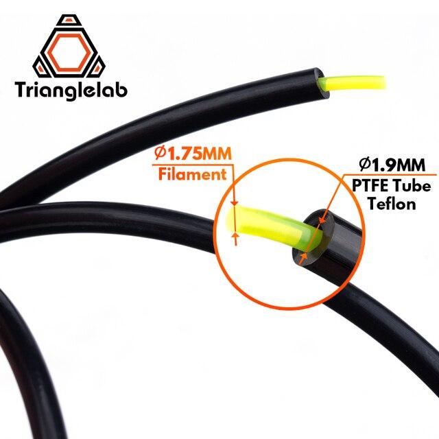 Trianglelab freies verschiffen PTFE Rohr Teflonto 3D drucker hotend Bowden Extruder 1,75mm ID1.9mmOD4mm Capricornus rohr