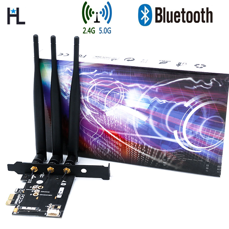 BCM943602CS bcm94360CS2 BCM943224PCIEBT2 Wireless WiFi Bluetooth 4 0 module Card to PCI E 1X Adapter for