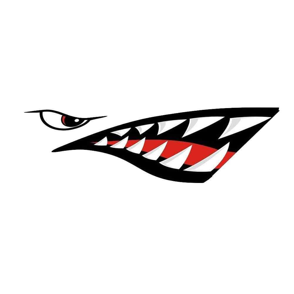Mount chain 2 шт. водонепроницаемый DIY Забавный гребной каяк гребная лодка Акула аксессуары для зубов наклейка в форме губ Виниловая Наклейка для этикеток