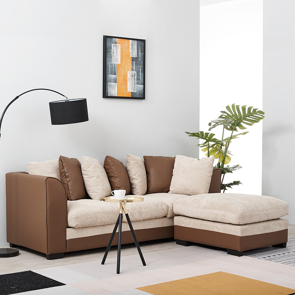 Panana Solid Hardwood & Iron Frame Sofa Modern Livingroom Furniture Bedroom Armchair Sofa