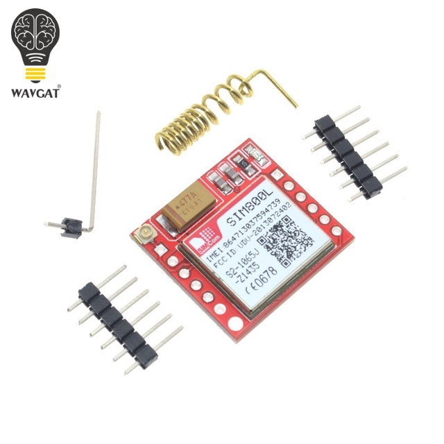 Free Shipping Smallest SIM800L GPRS GSM Module MicroSIM Card Core BOard Quad-band TTL Serial Port