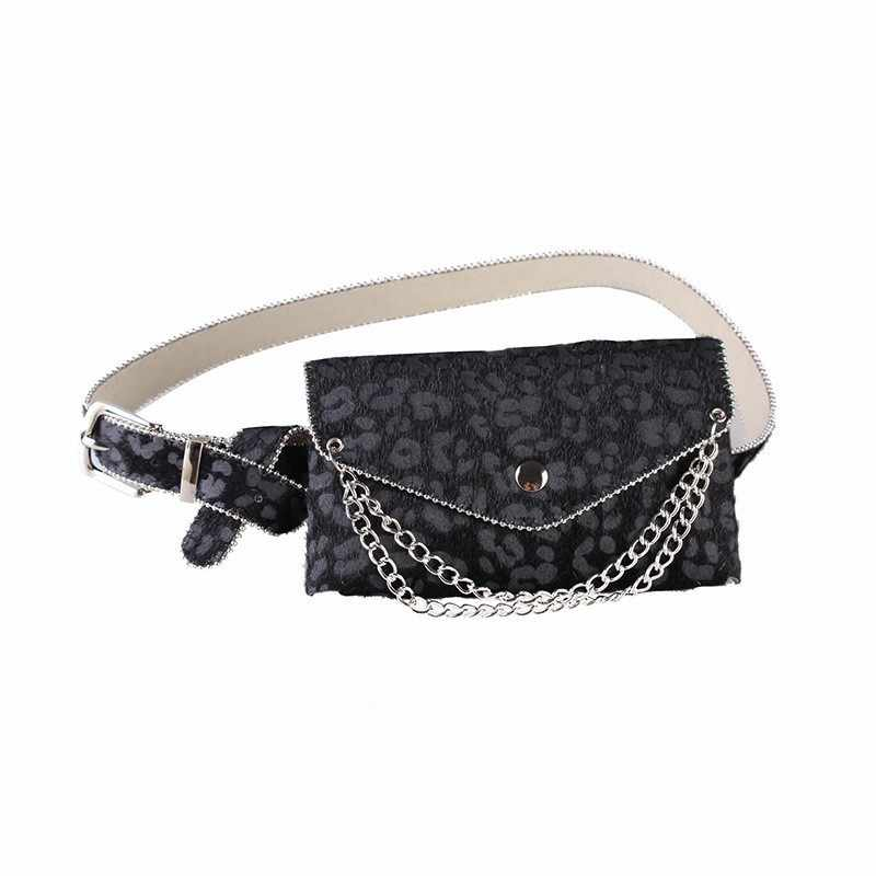171ea0bcc047 ... AINYFU Women Autumn Personality Trendy Cummer Bunds Mini-bag 2019  Fashion New Leopard Print Chain ...