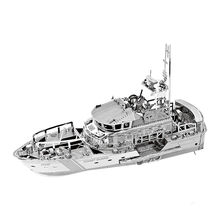 Lifeboat 3D Metal Puzzle Home Creative Stainless Steel Boat Model Laser Cut Manual Jigsaw Kits Educational Toys Christmas Gifts(China)