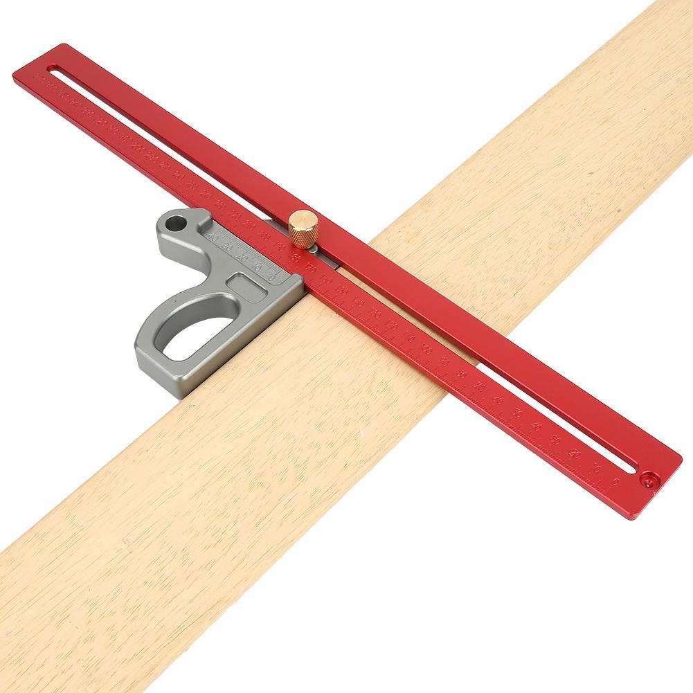 Hell Holzbearbeitung Rechten Winkel Lineal 45/90 Grad Winkel Lineal Scribe-mess Werkzeug 400mm Winkelmesser Aluminium Legierung Offensichtlicher Effekt Werkzeuge Messung Und Analyse Instrumente
