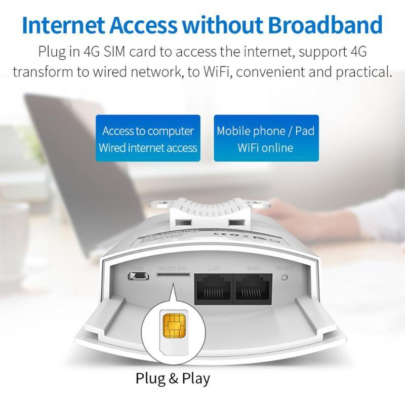 COMFAST CF-E5 300 Mbps Portable 4G carte SIM sans fil AP WiFi routeur IP66 étanche blanc avec prise EU/US 4G routeur sans fil nouveau