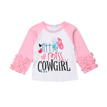 Girls T-shirt Lovely Kids Blouse Letter Printed Tops Girls Long Sleeve Tops Toddler T-shirts Baby Tees Cotton Children T Shirt new spring boys girls cartoon cotton tattoo t shirts children tees boy girl long sleeve t shirts kids tops baby clothes 12m 6y
