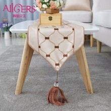Avigers European Embroidered Stripe Geometry flag Modern High Quality Table Cloth Runner Decoration Home Party