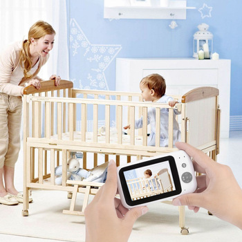 3.5 inch LCD Screen Wireless Video Baby Monitor Digital Sleep Monitoring Night Vision Temperature Sensor