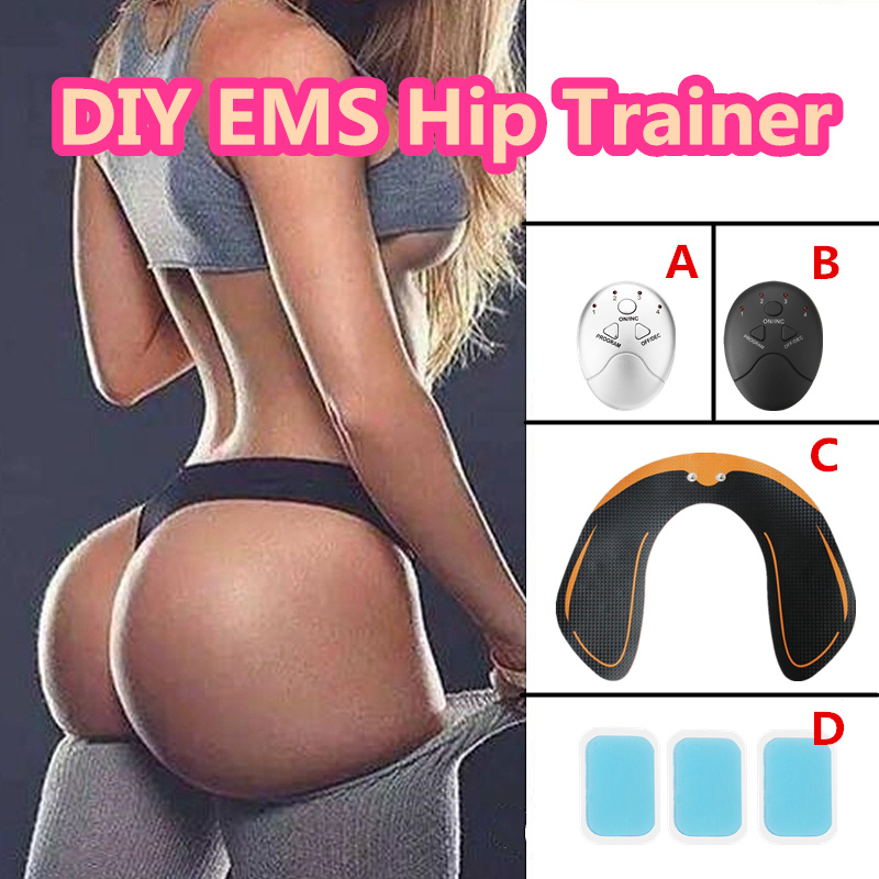 Adhesive Gel Pad Smart EMS Household Hip Trainer Ass Builder Buttock Lifter Massager Electric Vibration Muscle Stimulator ems hips trainer