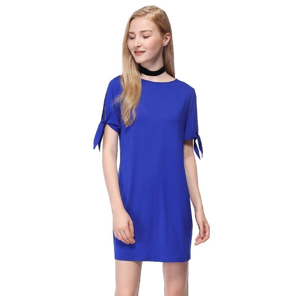 Cocktail Dresses Ever Pretty Brand AS01008SB Blue Mini Length Short Casual Party Beach dresses Women 2019 Hot Sale