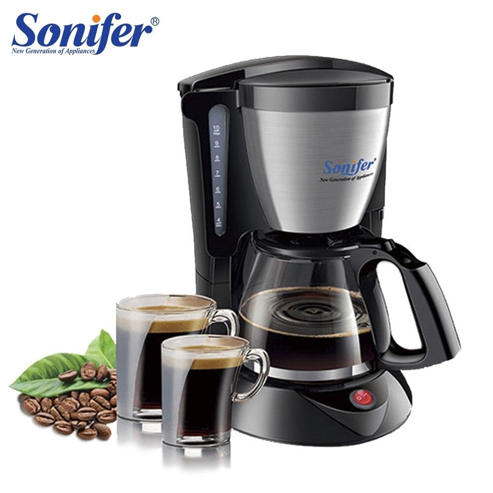 1.25L Elettrica per il Caffè uso domestico grande macchina da caffè 12 tazza di tè caffè pentola 220 V Sonifer