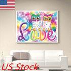 Owl DIY Full Drill Diamond Painting Cross Stitch Kits Home Decor Craft Gift USA