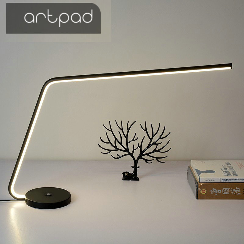 Artpad Minimalism High End Touch Dimmable 3 Level Brightness Eyecare Desk Lamp Led With Heavy Base