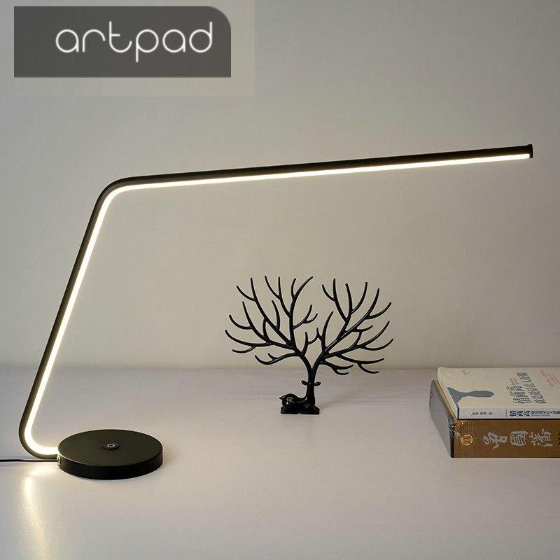 Artpad минимализм High End Touch затемнения 3 уровня яркость Eyecare настольная лампа Led с тяжелой база хорошее бизнес Подарочная настольная лампа