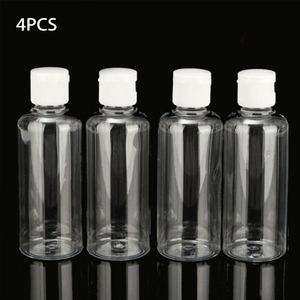 Image 1 - 4pcs 100ml Bottle Plastic Liquid Shampoo Clear Makeup Container Lotion Multifunctional Travel Bottle Empty Cosmetic Containers
