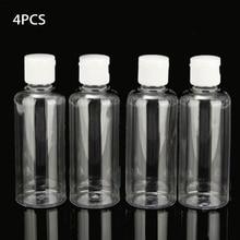 4pcs 100ml בקבוק פלסטיק נוזלי שמפו ברור איפור מיכל קרם רב תכליתי נסיעות בקבוק ריק קוסמטי מכולות