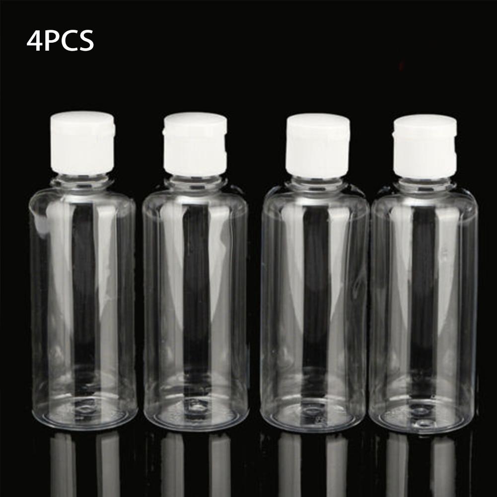 4pcs X 100ml Plastic Liquid Shampoo Clear Makeup Container Lotion Multifunctional Travel Bottle