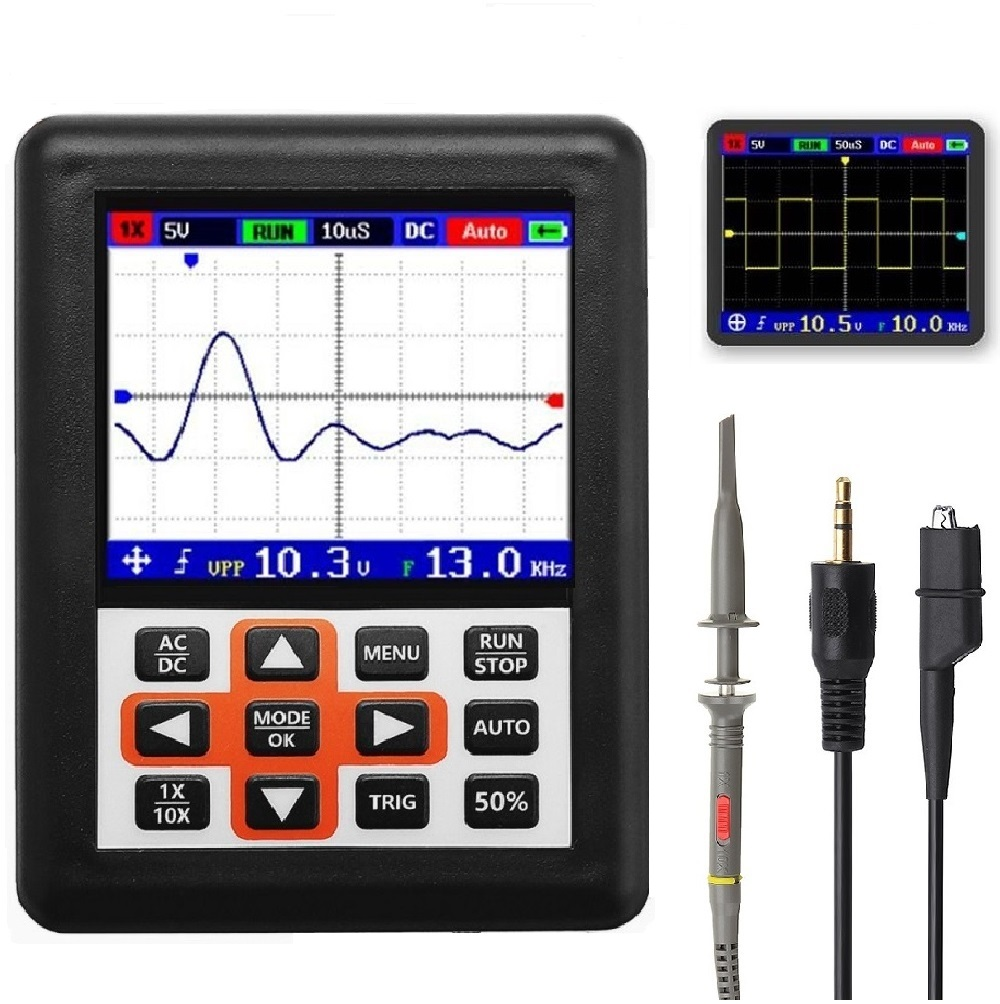 DSO338 Handheld Oscilloscope 30MHz Bandwidth 200M Sampling Rate 2.4 Inch IPS Screen 320*240 Resolution TechnologyDSO338 Handheld Oscilloscope 30MHz Bandwidth 200M Sampling Rate 2.4 Inch IPS Screen 320*240 Resolution Technology