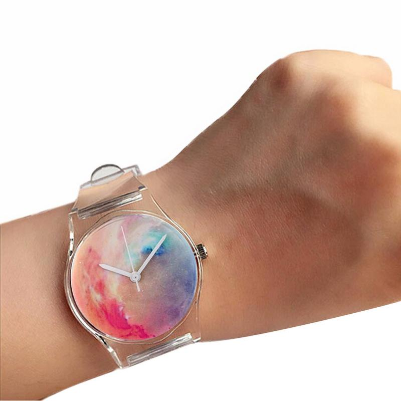 MISS M Transparent Clock Silicone Ladies Watch Sports Leisure Decoration Quartz Watch Novelty Cartoon Crystal Women's Watch