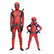 Deadpool Costume Marvels The Avengers Superhero Weapon X  Cosplay Adult Kids Boys Halloween Jumpsuits Fancy Dress Mask
