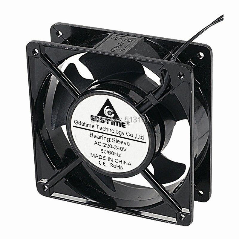 2Pcs Gdstime Metal 120mm 12cm x 38mm Sleeve AC 220V 240V Cooling Fan