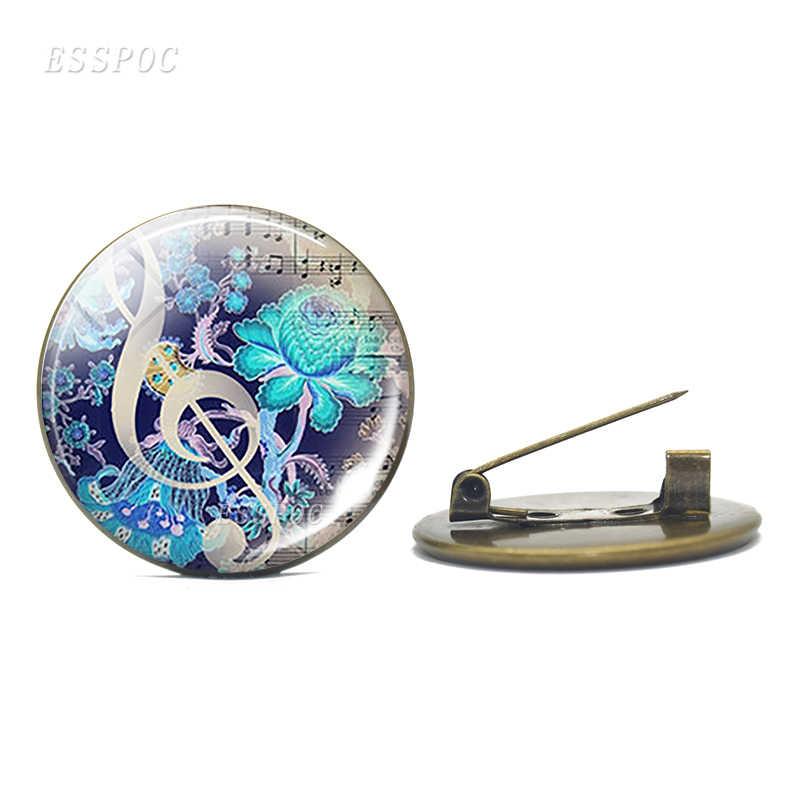Alat Musik Bros Gitar Piano Flute Musik Biola Bros Pria Bros Pin Buckle Wanita Pakaian Perhiasan Aksesoris Hadiah