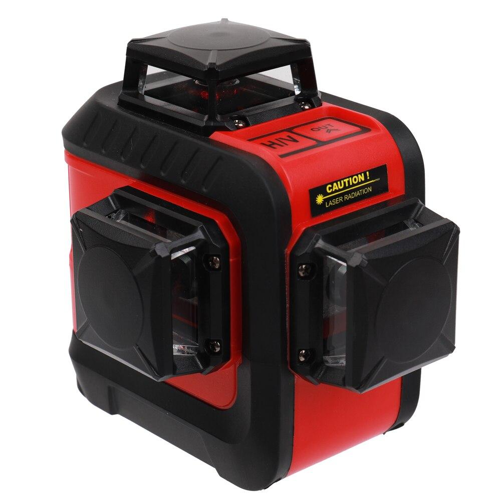 KKMOON DIY 12 Lignes 3D Laser Niveau 360 Rouge Auto-Nivellement Horizontal Et Vertical Croix Avec Laser Lunettes De Protection