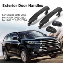 1 Pc/1Pair Outside Exterior Front Door Handles 69211-02080 for Toyota Corolla Matrix BYD F3 High Quality Car Left+Right Handles