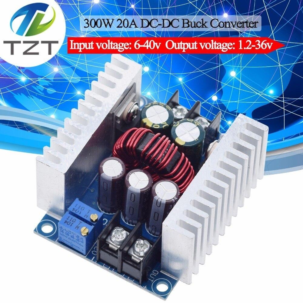 300W 20A DC-DC понижающий преобразователь, понижающий модуль с драйвером постоянного тока для светодиода, понижающий модуль напряжения, электрол...