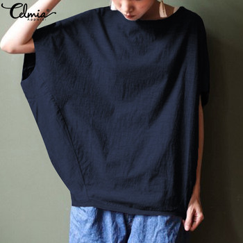 c95e5e90be54ac3 Product Offer. Топы оверсайз cellia женские Винтажные льняные Блузки Новые  летние женские рубашки ...